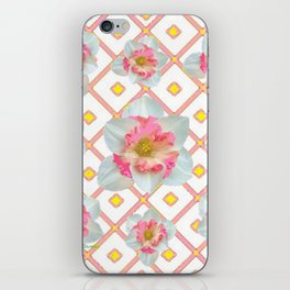 Pink-Yellow Spring Garden Daffodils iPhone Skin