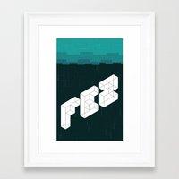 fez Framed Art Prints featuring FEZ poster by Reed Erlandson