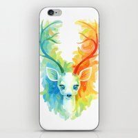 feather iPhone & iPod Skins featuring Feather Fawn by Freeminds