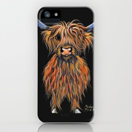 Scottish Highland Cow ' NED ' by Shirley MacArthur iPhone Case