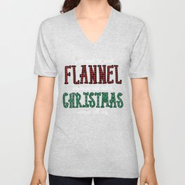 I Just Want to Wear Flannel Pajamas and Watch Christmas Movies Buffalo Plaid Unisex V-Neck