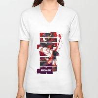 kill la kill V-neck T-shirts featuring Kill La Kill by feimyconcepts05