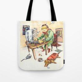 Hero and his Superdog Tote Bag