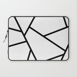 Black and White Fragments - Geometric Design I Laptop Sleeve