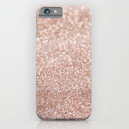 Sparkling Rose Gold Blush Glitter #2 #shiny #decor #art #society6 iPhone Case