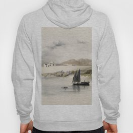 Dendera is one of the latest Egyptian temples  by David Roberts (1796-1864) Hoody