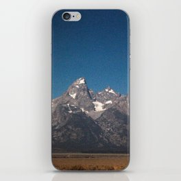 Grand Tetons as the Eclipse fades away iPhone Skin