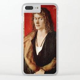 Albrecht Durer - Portrait Of Oswolt Krel. Clear iPhone Case