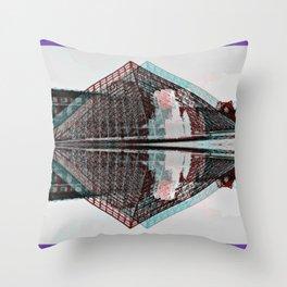 La Louvre Throw Pillow