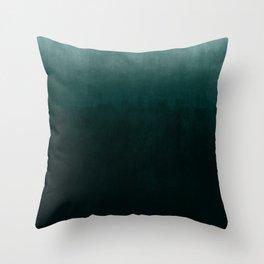 Ombre Emerald Throw Pillow