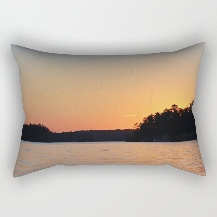 Lake Sunset Rectangular Pillow