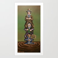 haunted mansion Art Prints featuring Haunted Mansion Portrait: Quicksand  by Jonathan R. Lopez