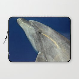 Making friends with a bottlenose dolphin Laptop Sleeve