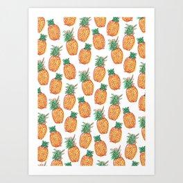 Pineaple express Art Print