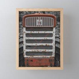International Farmall 560 Grill Rusty Red Tractor Framed Mini Art Print