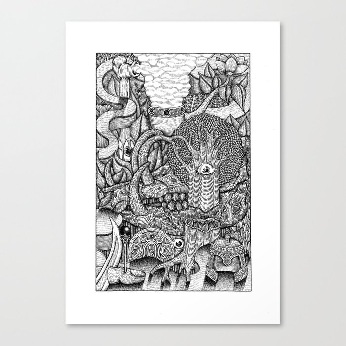 dreaming forest Canvas Print