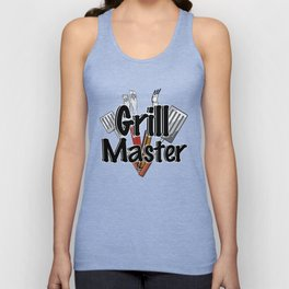 Grill Master with BBQ Tools Unisex Tank Top