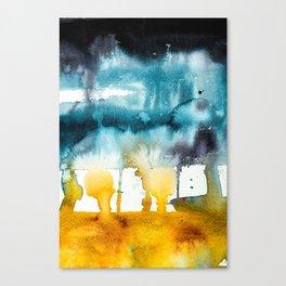 Fall Storm watercolor Canvas Print