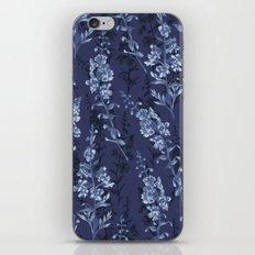 Blue Flower Pattern iPhone & iPod Skin