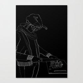 Laura (black) Canvas Print
