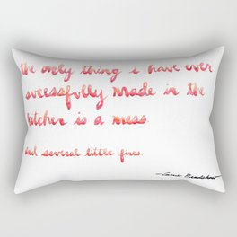 Carrie Bradshaw Cooking quote Rectangular Pillow