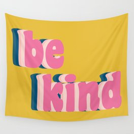 Be Kind Inspirational Anti-Bullying Typography Wall Tapestry