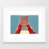 budapest hotel Framed Art Prints featuring GRAND BUDAPEST HOTEL COLOR by Oleol