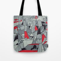 racing Tote Bags featuring Porsche Racing by Ale Giorgini