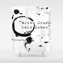 Hemingway Writing Quote Shower Curtain