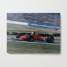 Sketch of F1 Champion Jody Scheckter - year 1979 car 312 T4 Metal Print