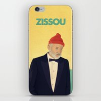 steve zissou iPhone & iPod Skins featuring Zissou by Perry Misloski