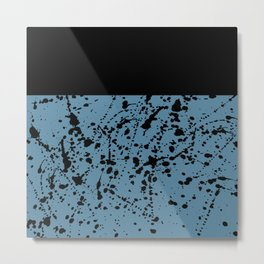 Splat Black on Niagra Boarder Metal Print