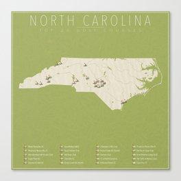North Carolina Golf Courses Canvas Print