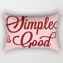 Simplicity Coral Typography Rectangular Pillow