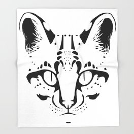 Wild Cat Ocelot Throw Blanket