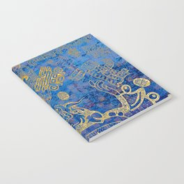 Mexican gold on blue Notebook