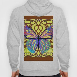 ITALIAN STYLE BROWN-YELLOW BUTTERFLY FILIGREE Hoody