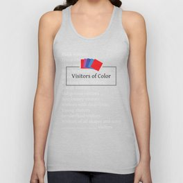 Visitors of Color Unisex Tank Top