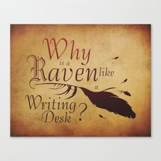 The Raven's Desk Canvas Print