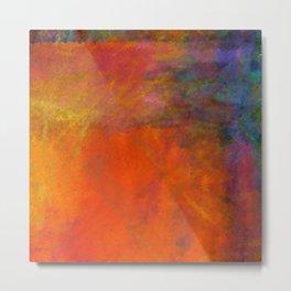 Orange Study #2 Digital Painting Metal Print