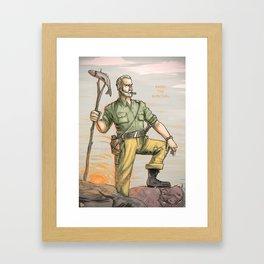ENJOY THE SURVIVAL Framed Art Print
