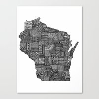 wisconsin Canvas Prints featuring Wisconsin by Lindsay MKE