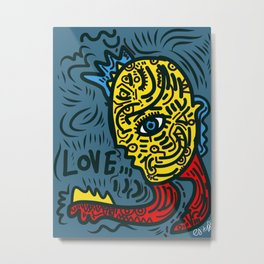 Punk Love Street Art Graffiti by Emmanuel Signorino Metal Print