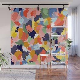 Bright Paint Blobs Wall Mural