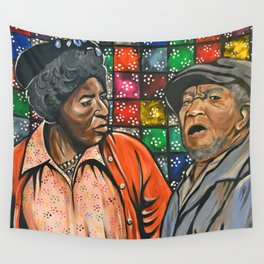 Aunt Esther vs. Fred Sanford Wall Tapestry