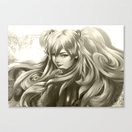 Asuka Black and White Canvas Print