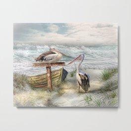 Pelican Point Metal Print