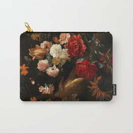 """Ernst Stuven """"Floral still life with Yellow-Bellied Toad and snake"""" Carry-All Pouch"""