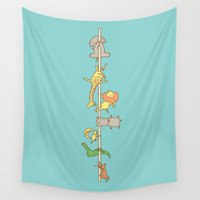 ilovedoodle Wall Tapestries featuring I love pole dancing by I Love Doodle