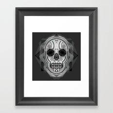White skull Framed Art Print